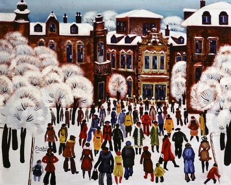Winter Day in the City, 1975 - Radi Nedelchev