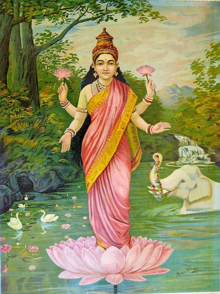 Lakshmi, the goddess of wealth, 1906 - Raja Ravi Varma