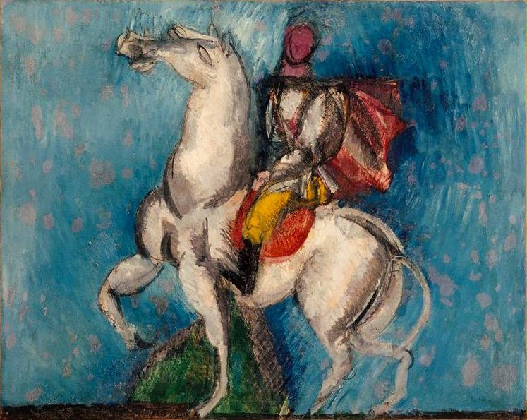 Le Cavalier arabe (Le Cavalier blanc), 1914 - Raoul Dufy