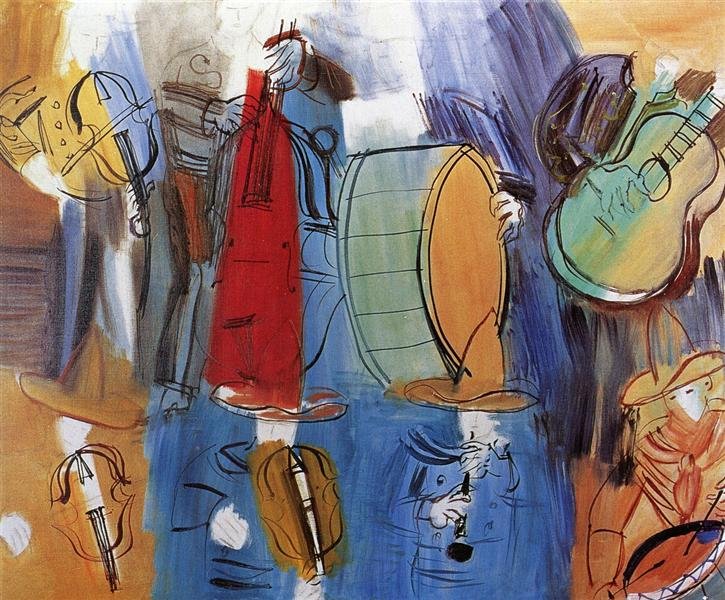 The Mexican Musicians, c.1951 - Raoul Dufy