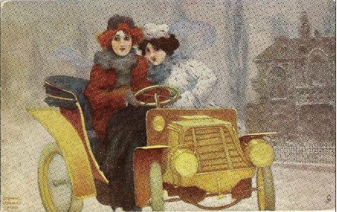 Flashing Motorists, 1904 - Raphael Kirchner