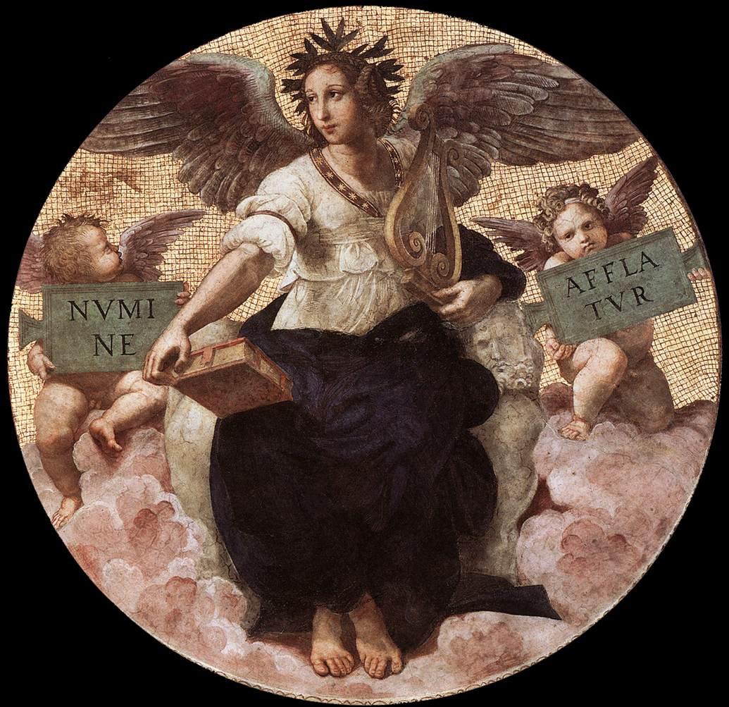 Poetry, from the 'Stanza della Segnatura', 1509 - 1511 ...