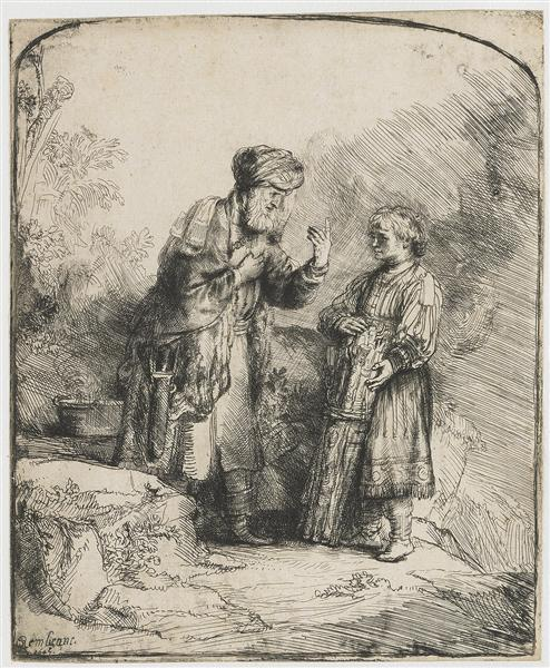 Abraham and Isaac, 1645 - Rembrandt