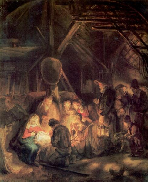 Adoration of the Shepherds - Rembrandt