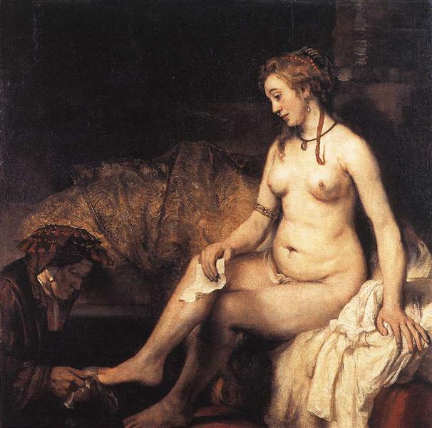 Bathsheba Bathing, 1654 - Rembrandt
