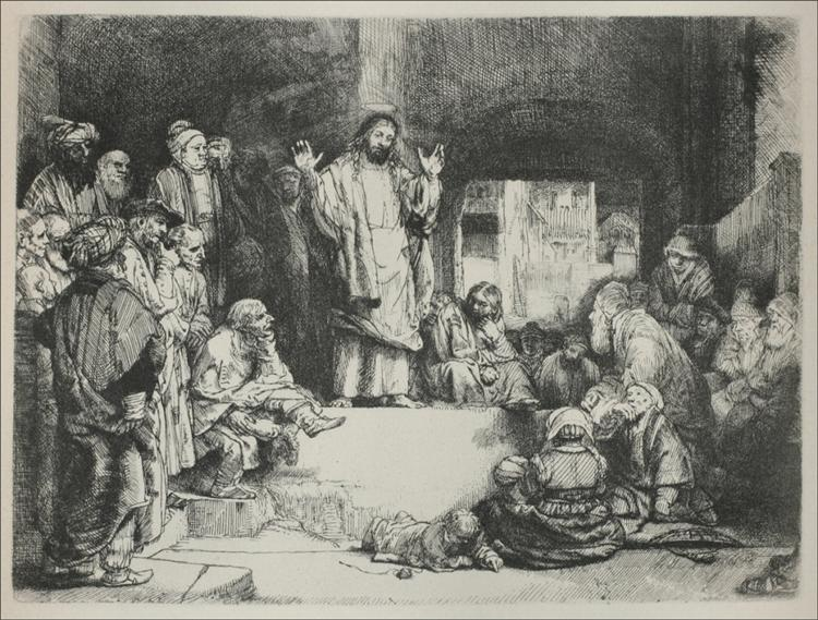 Jesus Preaching called the La Tombe, 1652 - Rembrandt