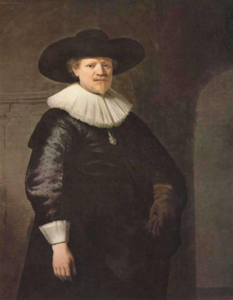 Portrait of a Man (possibly the poet Jan Harmensz Krul), 1633 - Rembrandt