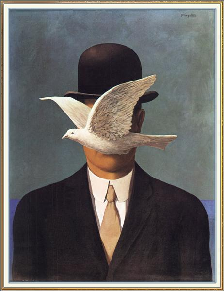 Man in a Bowler Hat - Magritte Rene