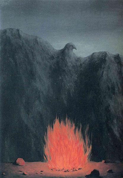 The spot on the map, 1955 - Rene Magritte