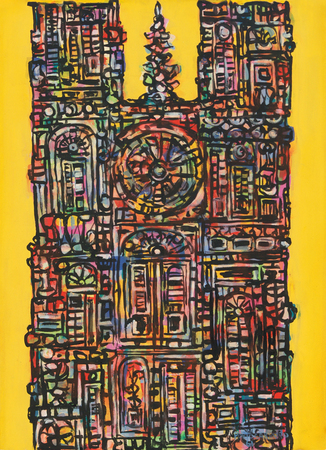 Cathedral in Yellow, 1961 - Rene Portocarrero