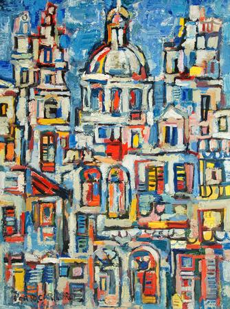 Landscape of Havana, 1961 - Rene Portocarrero