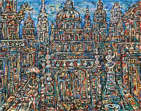 Landscape of Havana, 1969 - Rene Portocarrero