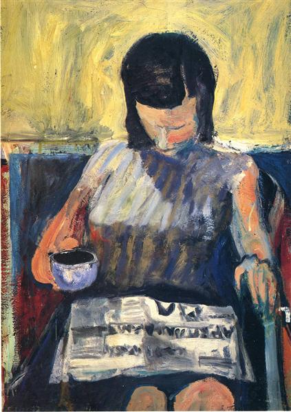 Woman with a Newspaper, 1960 - Richard Diebenkorn