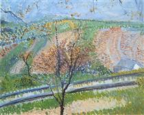 Railway to the Kahlenberg - Richard Gerstl