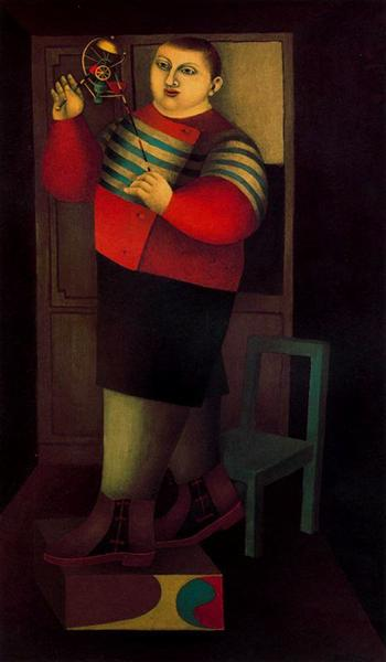 Boy with machine, 1955 - Ричард Линдер