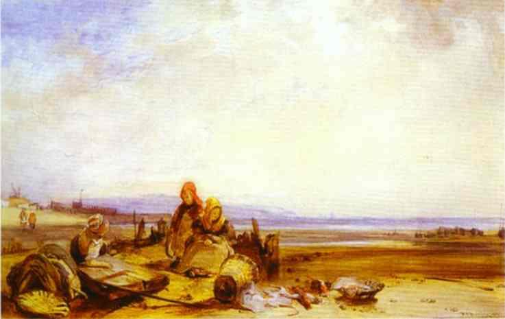 Beach in Normandy, c.1826 - Richard Parkes Bonington