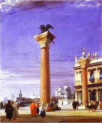 St. Mark's Column in Venice - Річард Паркс Бонінгтон
