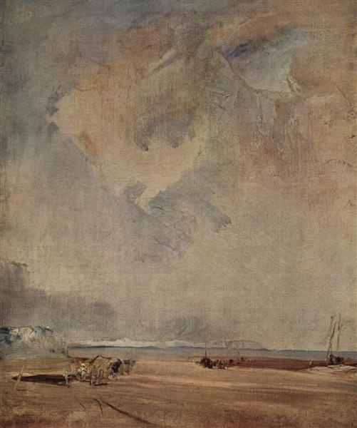 The Norman coast, c.1824 - Richard Parkes Bonington