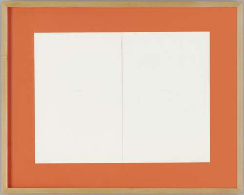 Untitled (White Out), 1991 - Rirkrit Tiravanija