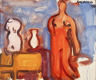 Studio Interior with Torso, Vase, Chair and Nude, 1970 - Robert De Niro Sr.