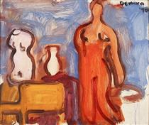 Studio Interior with Torso, Vase, Chair and Nude - Роберт Де Ніро - старший
