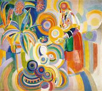 Alta donna portoghese - Robert Delaunay