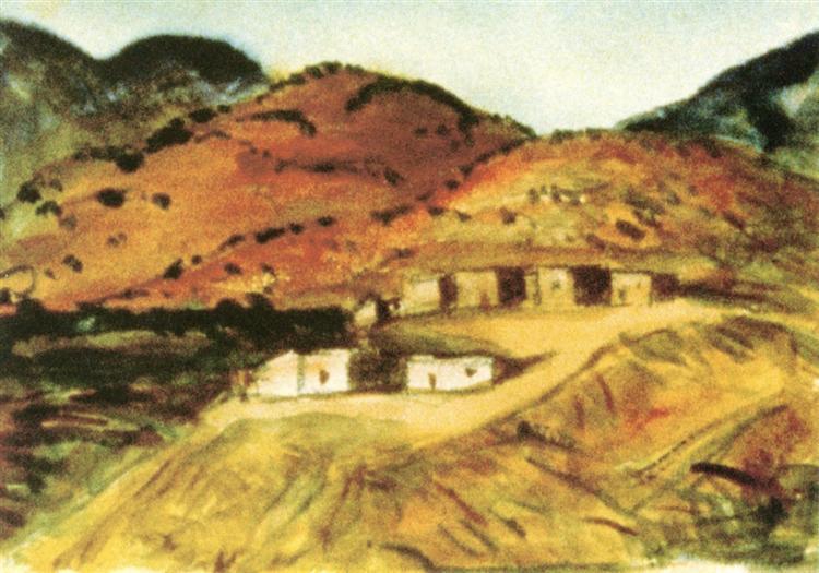 Adobe Houses, New Mexico, 1917 - Robert Henri