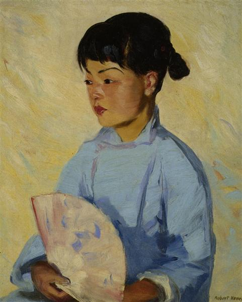 Chinese Girl with Fan, 1914 - Robert Henri