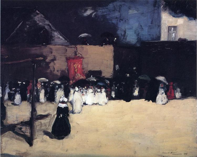 Fete du Dieu - Concarneau, 1899 - Роберт Генрі