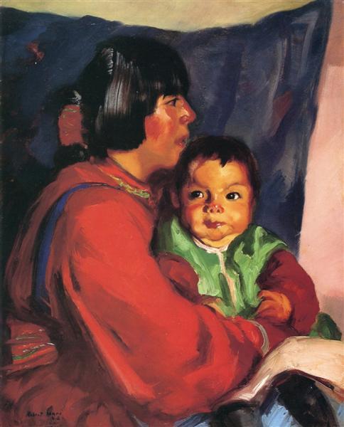 Maria and Baby, 1917 - Robert Henri
