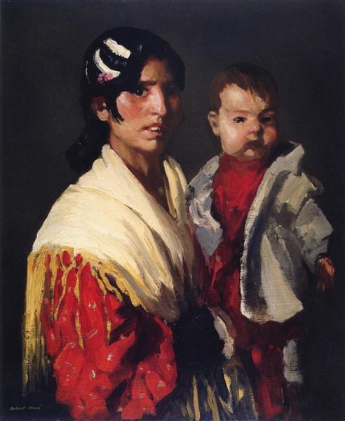 Maria y Consuelo (Gitana), 1906 - Robert Henri