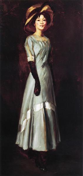 Miss Kaji Waki, 1909 - Robert Henri