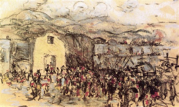 Tesuque Pueblo, 1917 - Robert Henri
