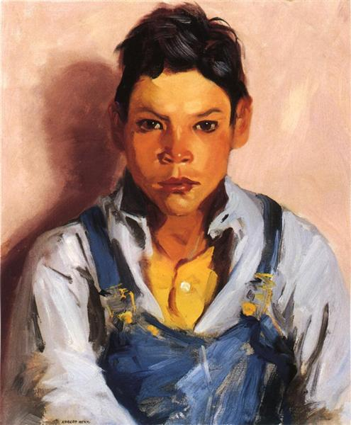 The Goat Herder (also known as Mexican Boy), 1917 - Robert Henri