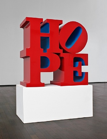 Hope Red/Blue - Robert Indiana