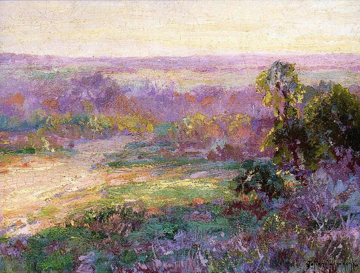 Last Rays of Sunlight, Early Spring in San Antonio, 1922 - Robert Julian Onderdonk