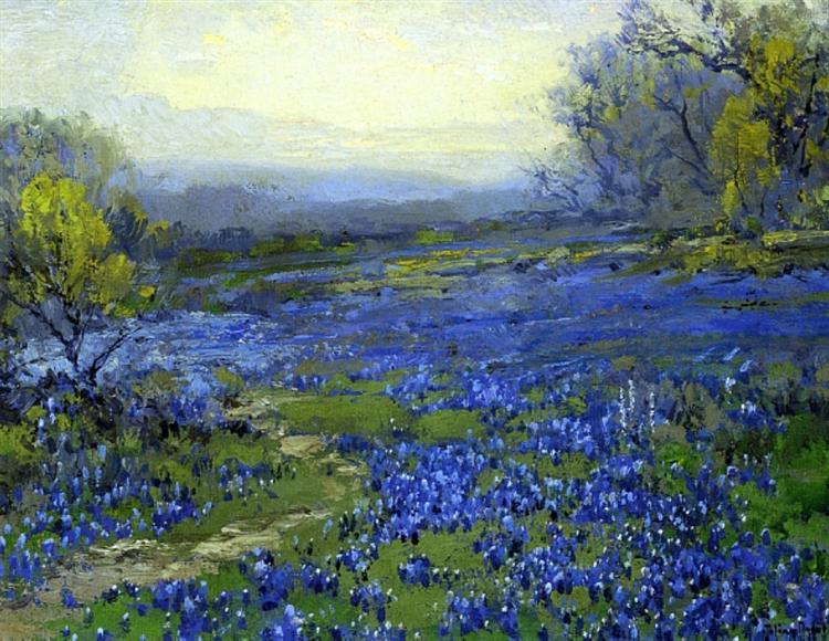 Morning in the Bluebonnets - Robert Julian Onderdonk