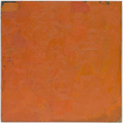 Untitled (Orange Painting), 1955 - Robert Ryman