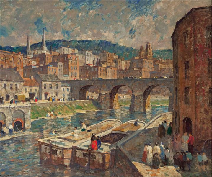 A River Mill Town - Robert Spencer