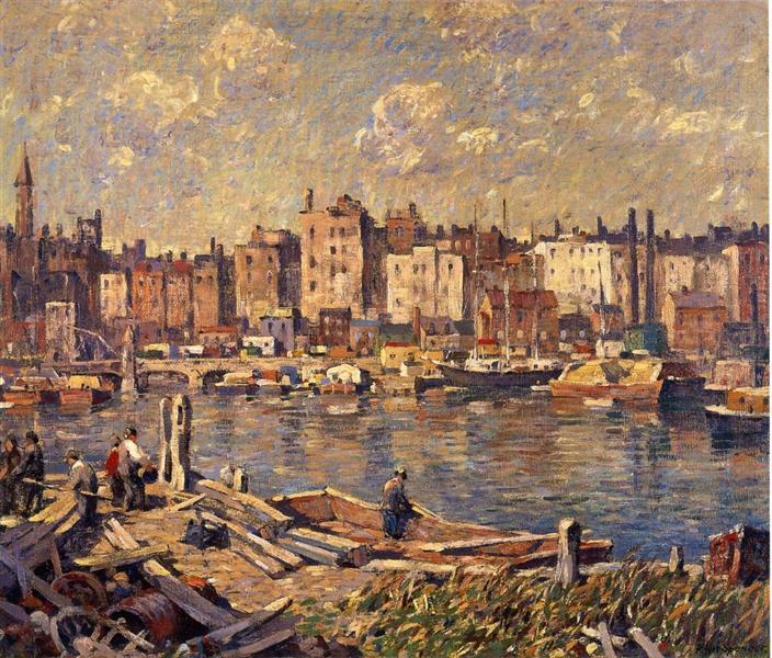 Harlem River, 1924 - Robert Spencer