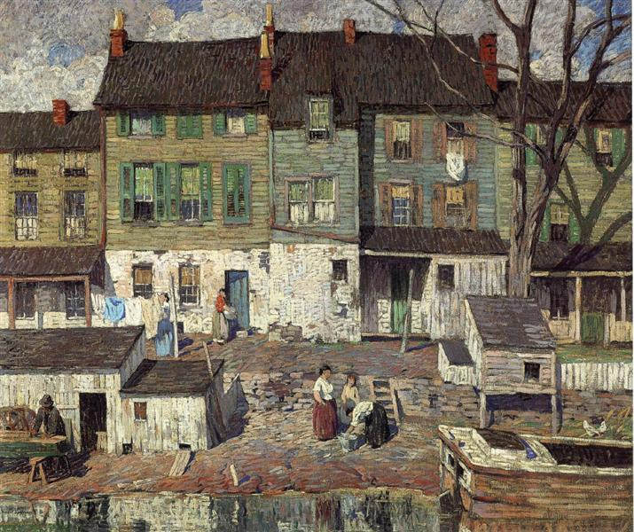 On the Canal, New Hope, 1916 - Robert Spencer