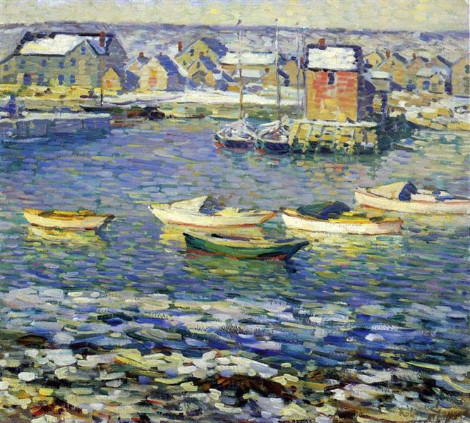 Rockport, Boats in a Harbor - Robert Spencer