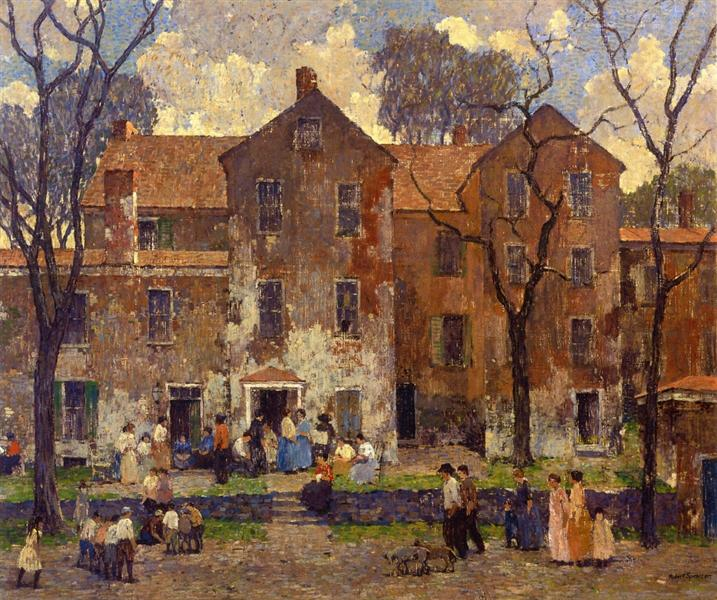 The Barracks, 1919 - Robert Spencer
