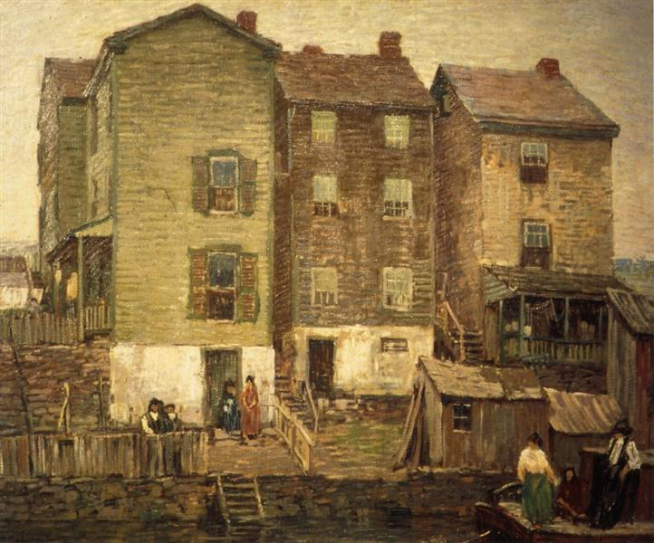 Three Houses, 1911 - Robert Spencer