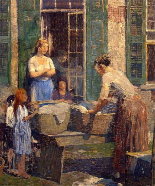 Washer Woman, 1919 - Роберт Спенсер