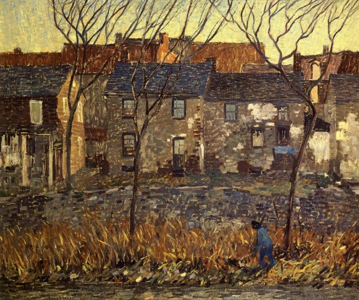 Waterloo Row, 1917 - Robert Spencer