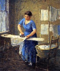 Woman Ironing - Robert Spencer