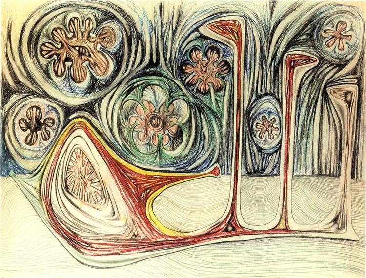 Snail's Trace, 1937 - Роберто Матта
