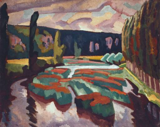 River with Poplars, 1912 - Roger Fry