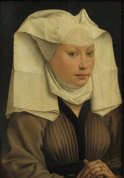 Portrait of a Young Woman in a Pinned Hat - Rogier van der Weyden